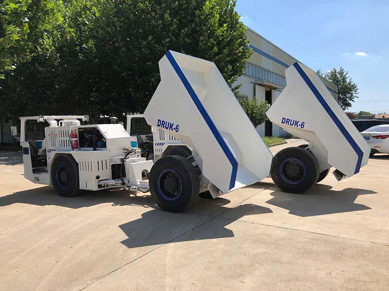 DERUI delivered two units of special underground dump trucks to Peru
